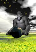 gorilla and earth