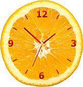 Orange Slice Clock
