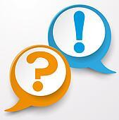 Question Answer Speech Bubble Labels