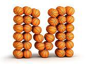 Letter  M  basketball