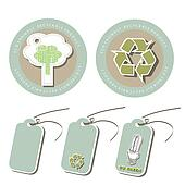 Set of Eco friendly tags