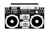 Boombox Clip Art - Royalty Free - GoGraph