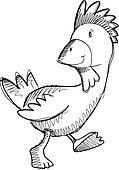 Chicken Rooster Sketch Doodle