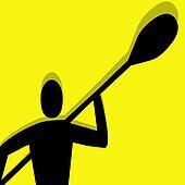 kayak pictogram yellow