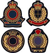 royal emblem badge shield