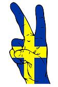 Peace Sign of the Swedish flag