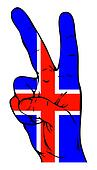 Peace Sign of the Icelandic flag