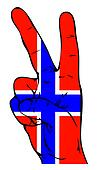 Peace Sign of the Norwegian flag