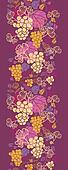 Sweet grape vines vertical seamless pattern background border