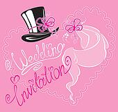 wedding invitation card with weddin