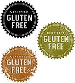 Gluten Free Product Menu Stamps