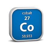 Cobalt material sign