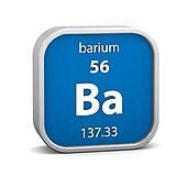 Barium material sign