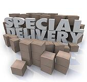 Special Delivery Boxes Packages Shipping Handling Warehouse