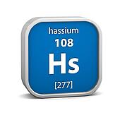 Hassium material sign