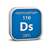 Darmstadtium material sign