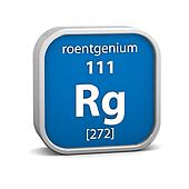 Roentgenium material sign