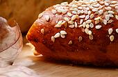 Wheat pretzel with sesame