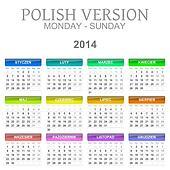 2014 Polish calendar