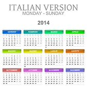 2014 calendar italian version