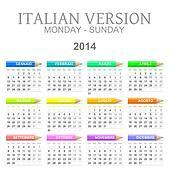 2014 crayons calendar italian version