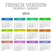 2014 calendar french version