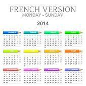 2014 crayons calendar french version