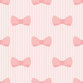 Seamless pink bows vector pattern