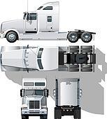 hi-detailed semi-truck