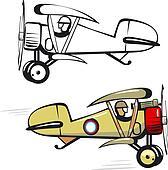 Biplane Clip Art - Royalty Free - GoGraph