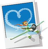 Cartoon racing airplane