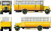 hi-detailed vintage city bus 30-s