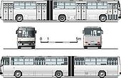 detailed urban bus