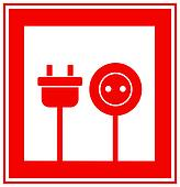 icon with electricity sign