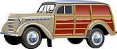 retro woody van