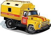 Cartoon repair truck