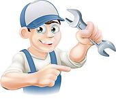 Plumber or mechanic pointing