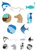 Abstract Animals Icons