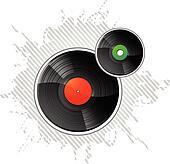 Vinyl Records LP Disks vector