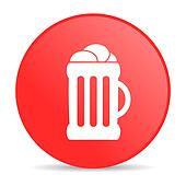 beer red circle web glossy icon