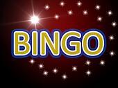 bingo word on a movie scene background