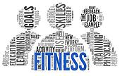 Fitness concept in word tag cloud