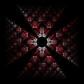 Design element. Red Maltese cross.