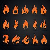Vector Abstract Fire Icons