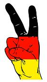 Peace Sign of the Germany flag