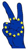 Peace sign of the flag of the European Union