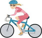Girl Cycling for Triathlon