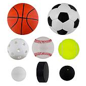Sport balls collection over white