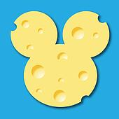 Mickey, mouse, cheese, Swiss cheese