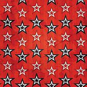revolution stars seamless pattern with grunge effect